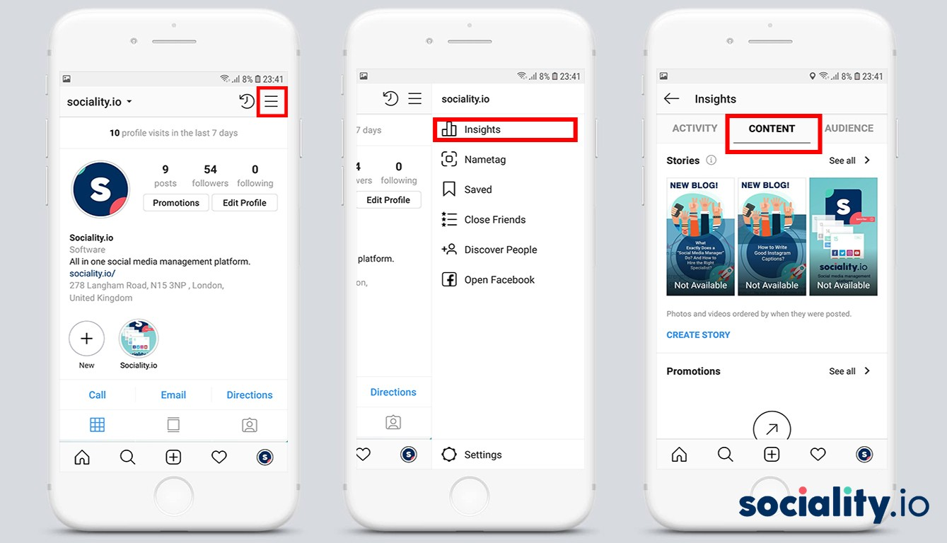 Instagram - How to access your Stories Insights