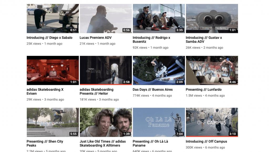 Brand videos showcasing