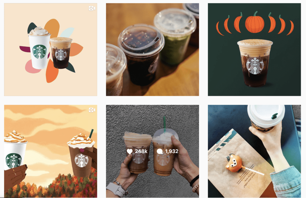 Starbucks Instagram growth