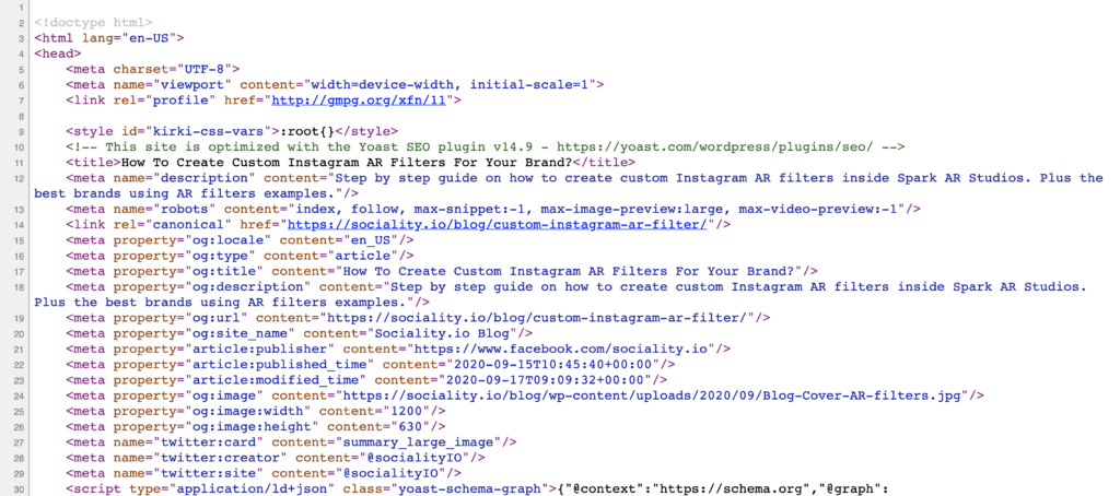 HMTL examples for Facebook Debugger
