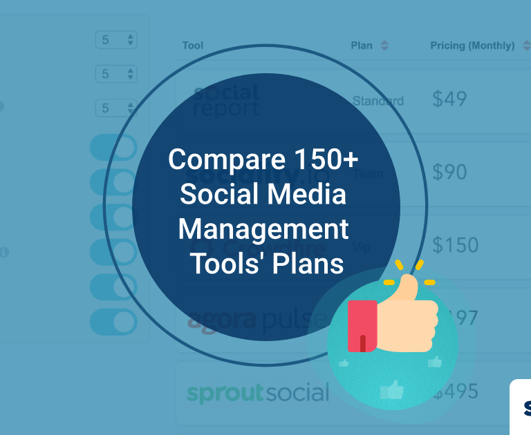 Compare 150+ Social Media Management Tools' Plans