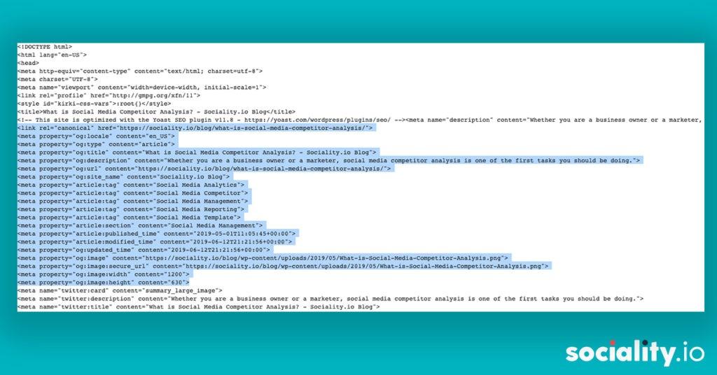 Open Graph HTML Code