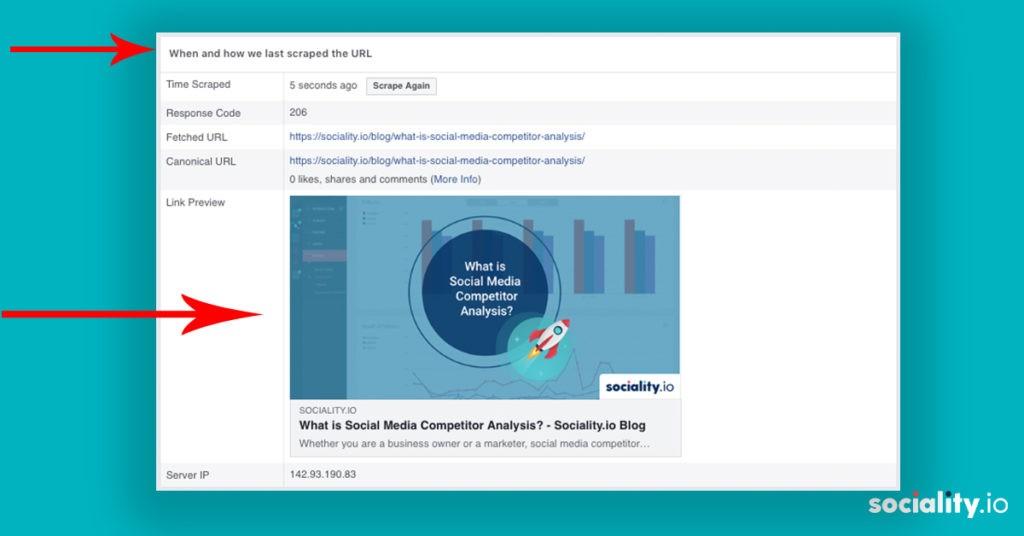 Facebook Debugger Scrapes Details