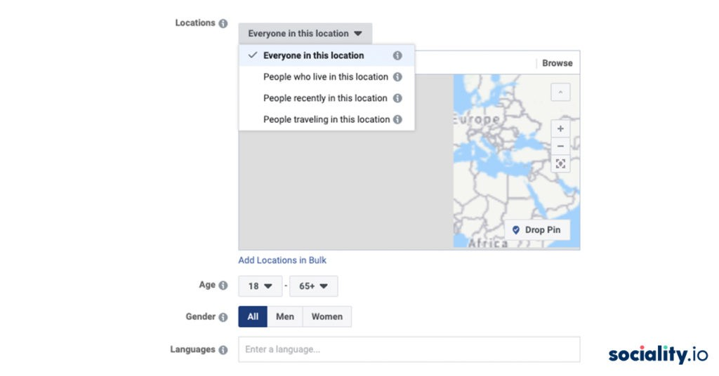 Facebook Ads Locations