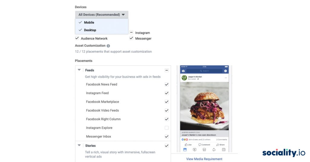 Facebook Ads Placements Preview
