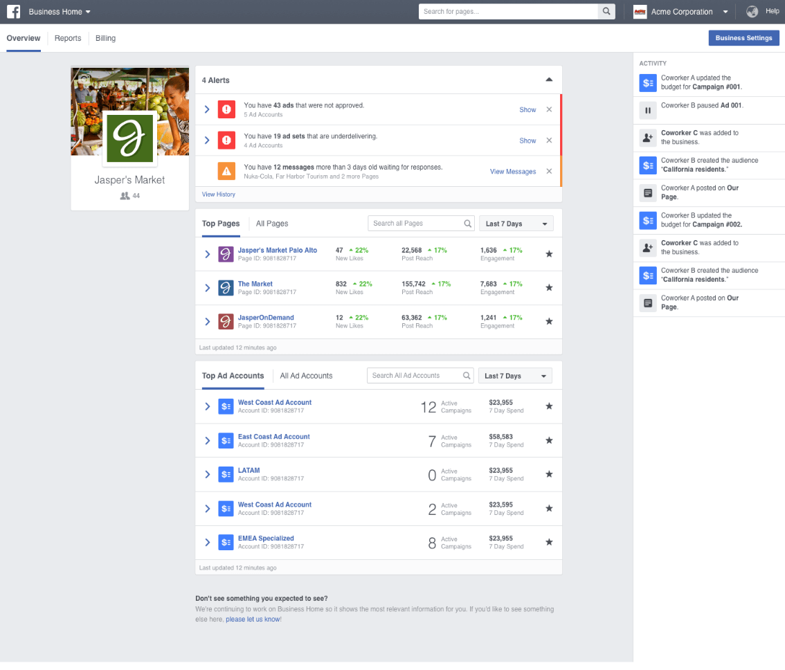 Facebook Business Manager overview
