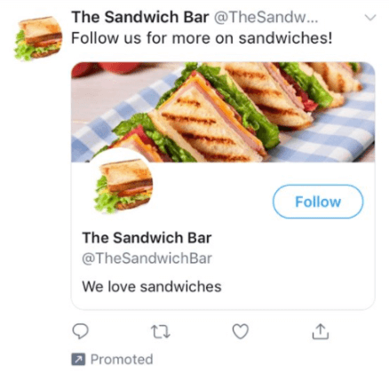 Twitter Ads Sandwich Bar