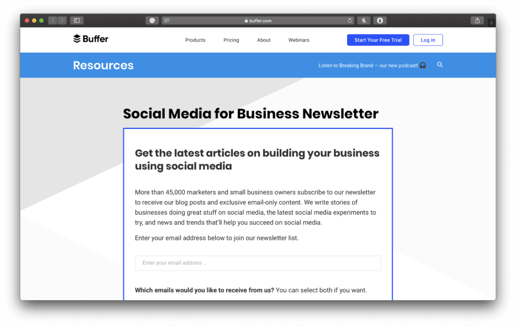 Buffer Newsletter