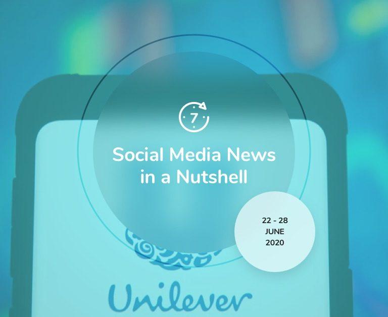 Social Media News in a Nutshell: 22 June — 28 June 2020