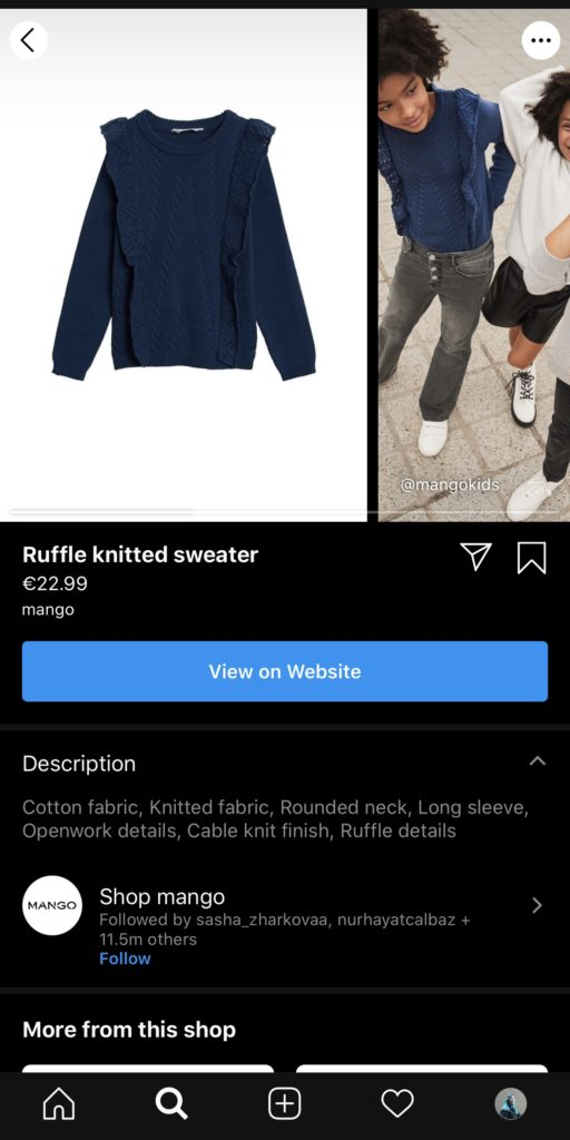 How to add Instagram shopping tags
