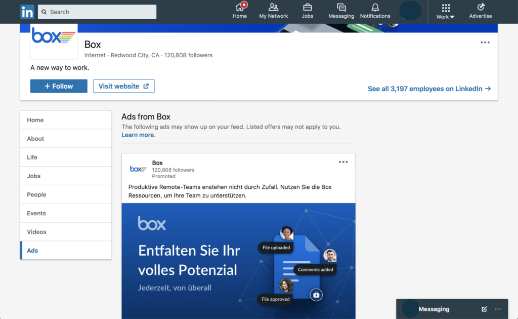 LinkedIn Ad competitor analysis