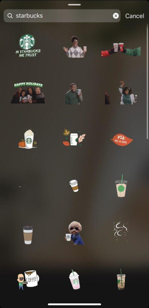 branded GIFs in Instagram Stories