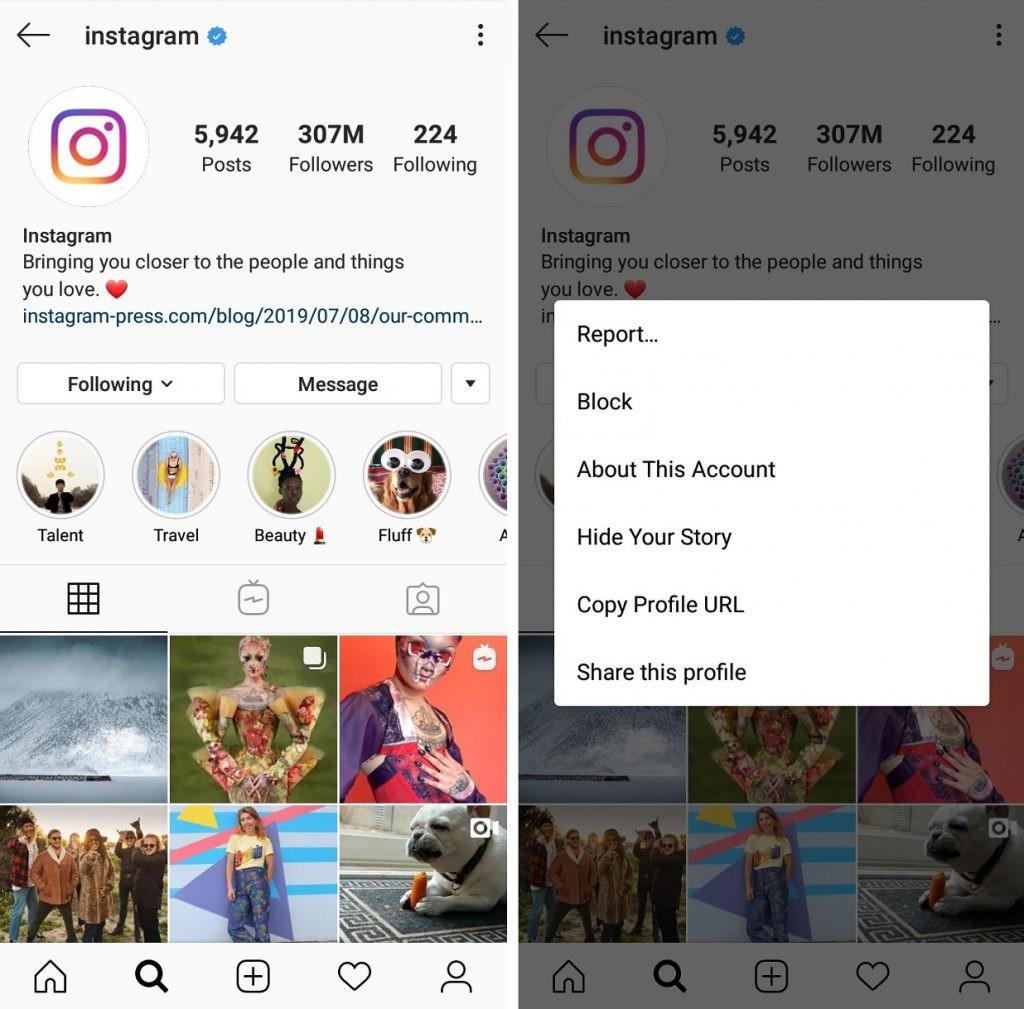 What causes Instagram shadowban?