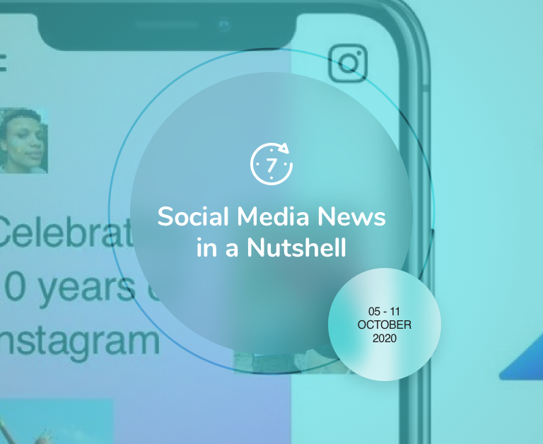 Social Media News in a Nutshell: 5 October — 11 October 2020