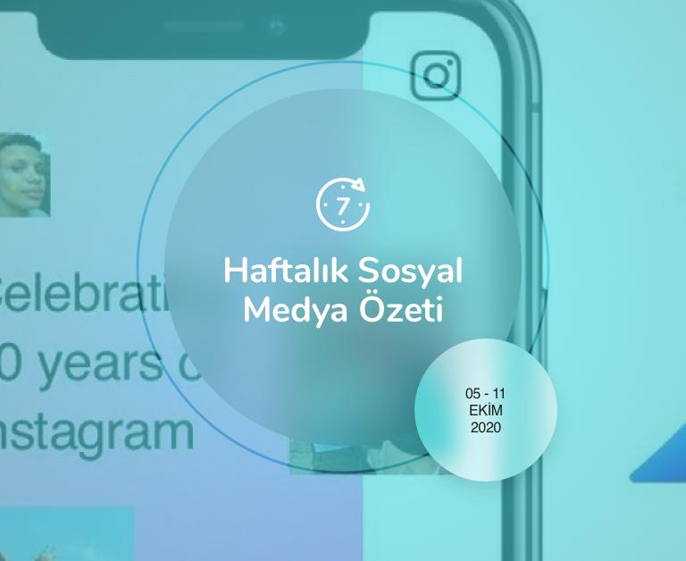 Haftalık Sosyal Medya Özeti: 5 Ekim — 11 Ekim 2020