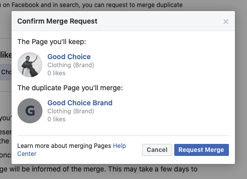Confirm merge request