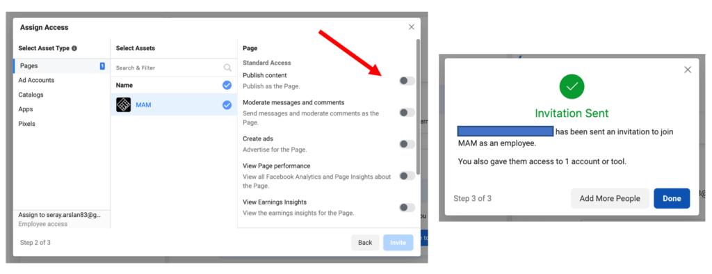 Facebook Assign Access