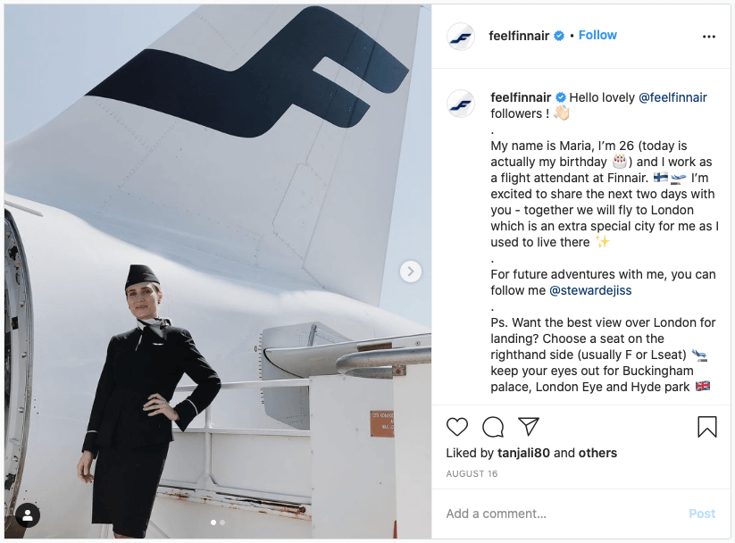 Finnair Instagram Account Take Over