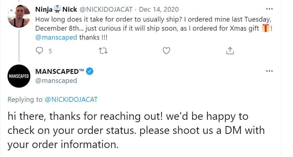 Manscaped - Tweet