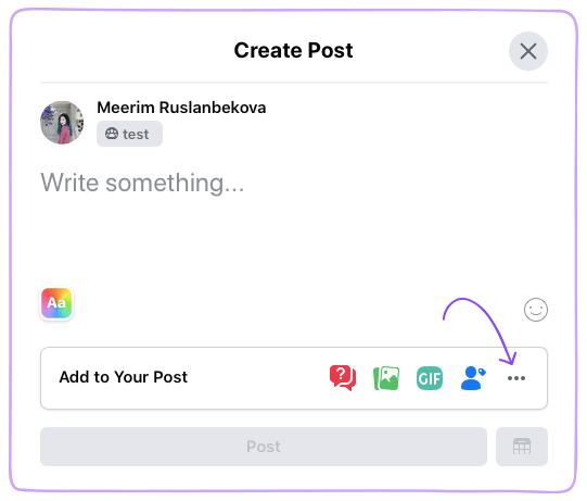 Facebook Watch Party Create Post