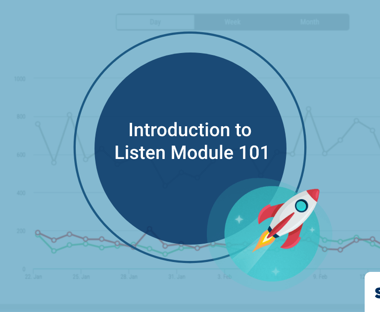 Introduction to Listen Module 101 – Stay Informed About Your Brand Health with Social Listening
