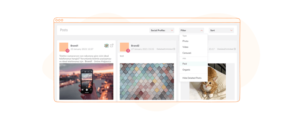 Sociality.io Posts Filter