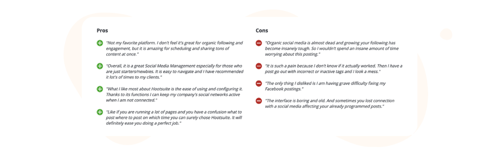 Hootsuite Pros and Cons Reviews on Capterra