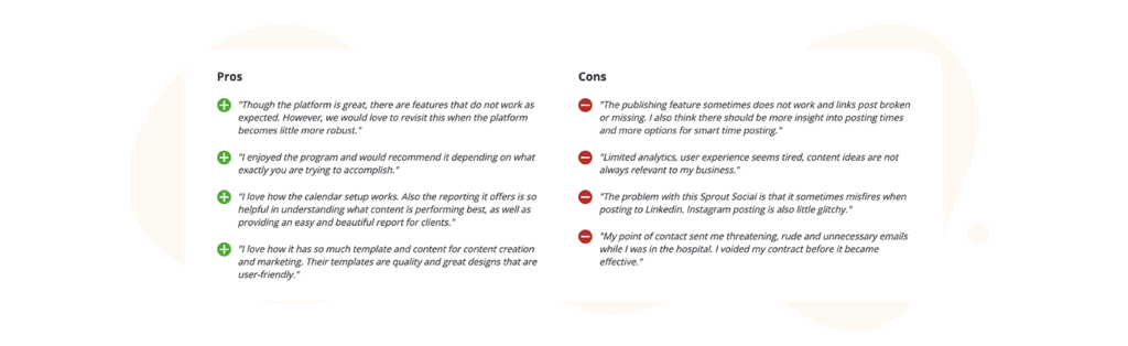 SproutSocial Pros and Cons Reviews on Capterra