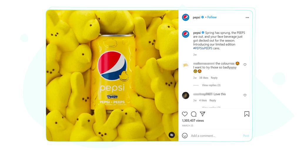 Pepsi Instagram Post
