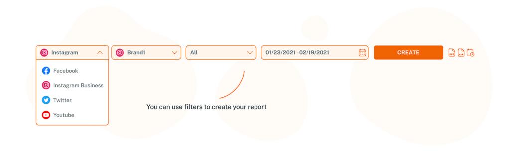 SocialityIO Report Module Pick a Social Network