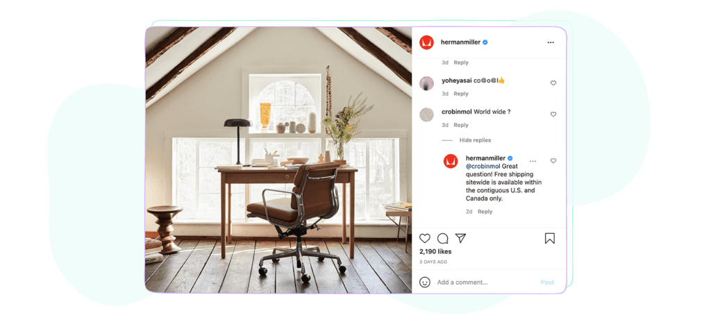 Hermanmiller comment section