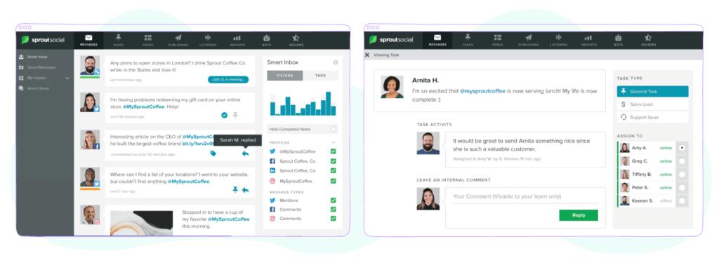 Sprout Social - social marketing software