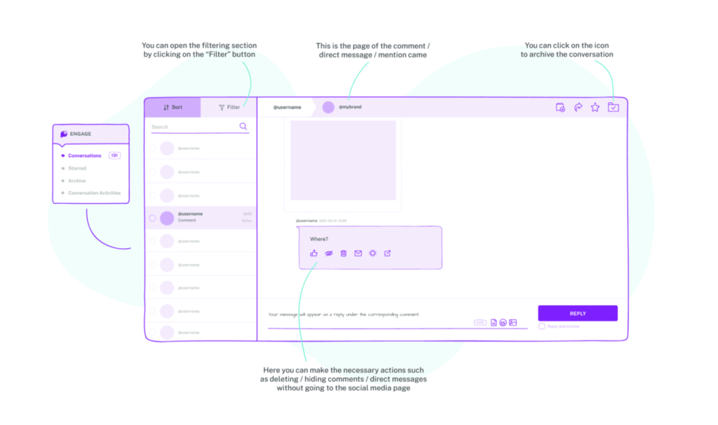 manage comment in instagram messeages with sociality.io