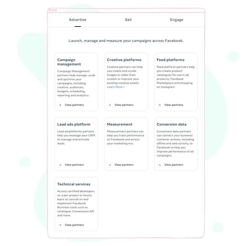 Facebook Marketing Partner Agency Categorization