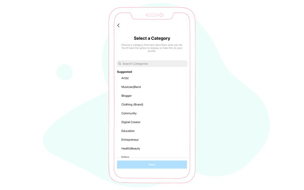 Instagram Creator Account Categories