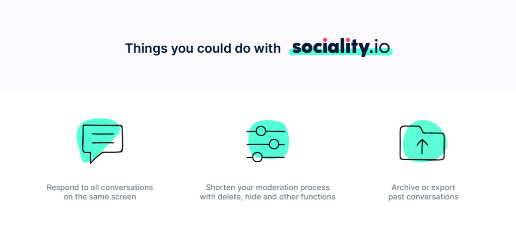 things you could do with sociality.io
