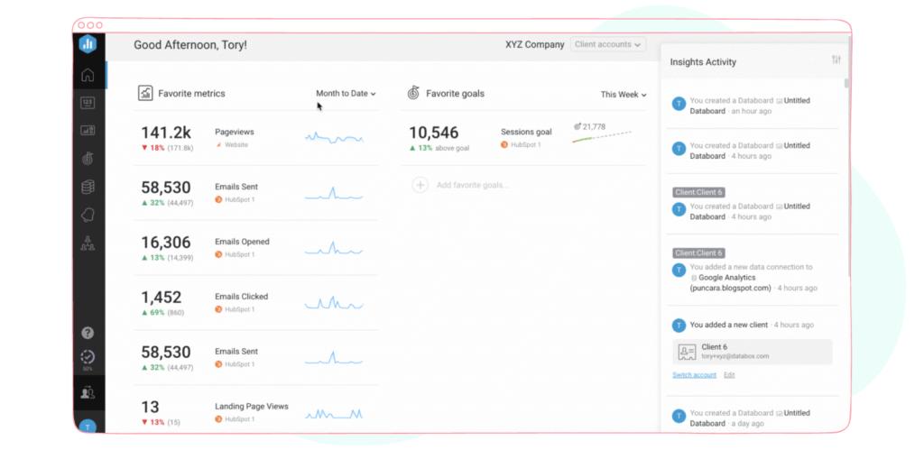 Data analytics with Databox
