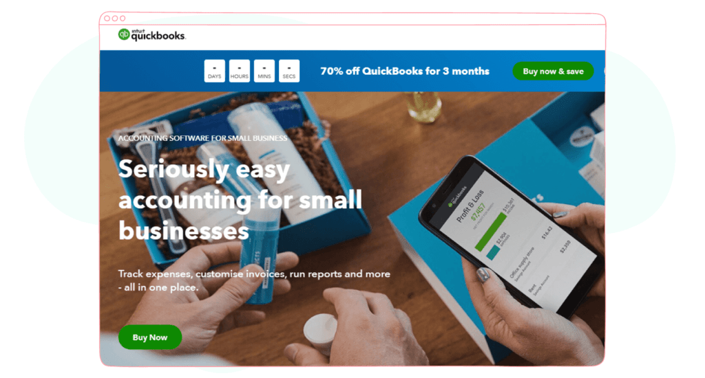Quickbooks marketing app