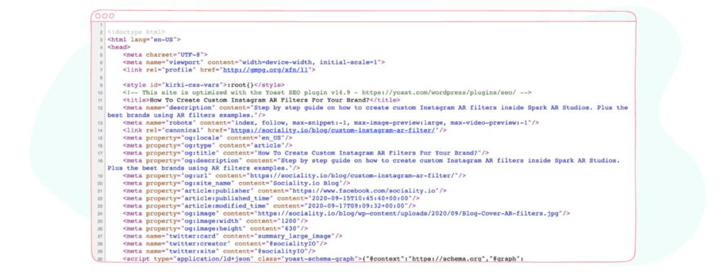 HMTL examples for Facebook Debugger