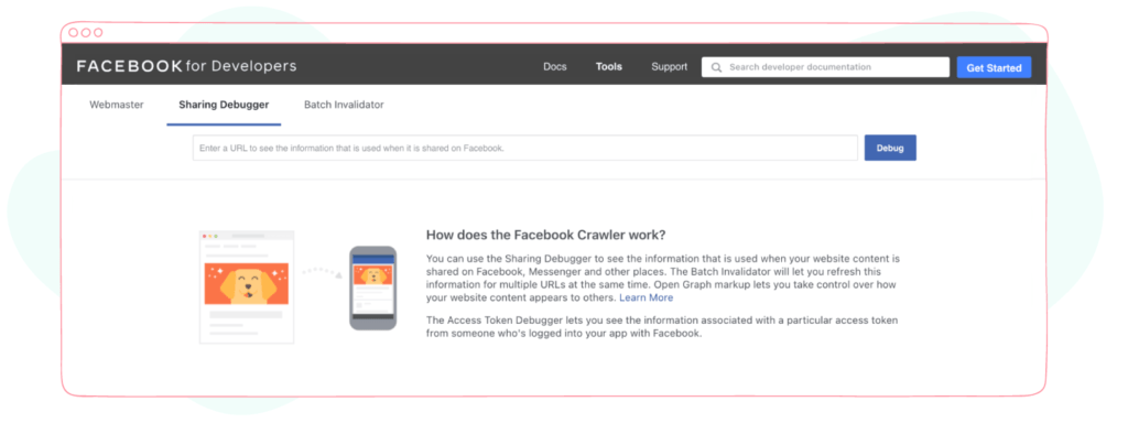 Facebook Debugger website