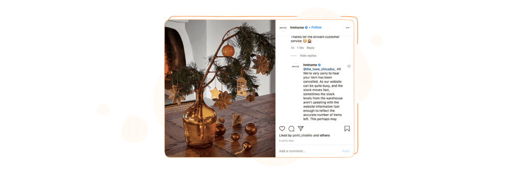 HM Home Instagram Comment Monitoring