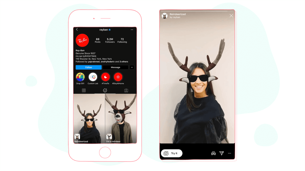 AR Filters brand use