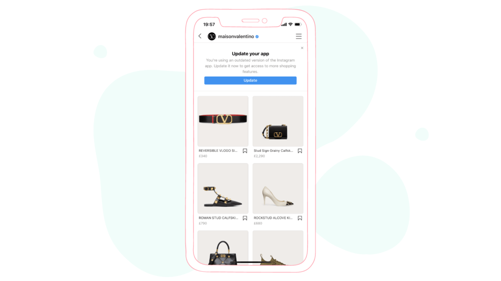 Instagram Shopping sharing links