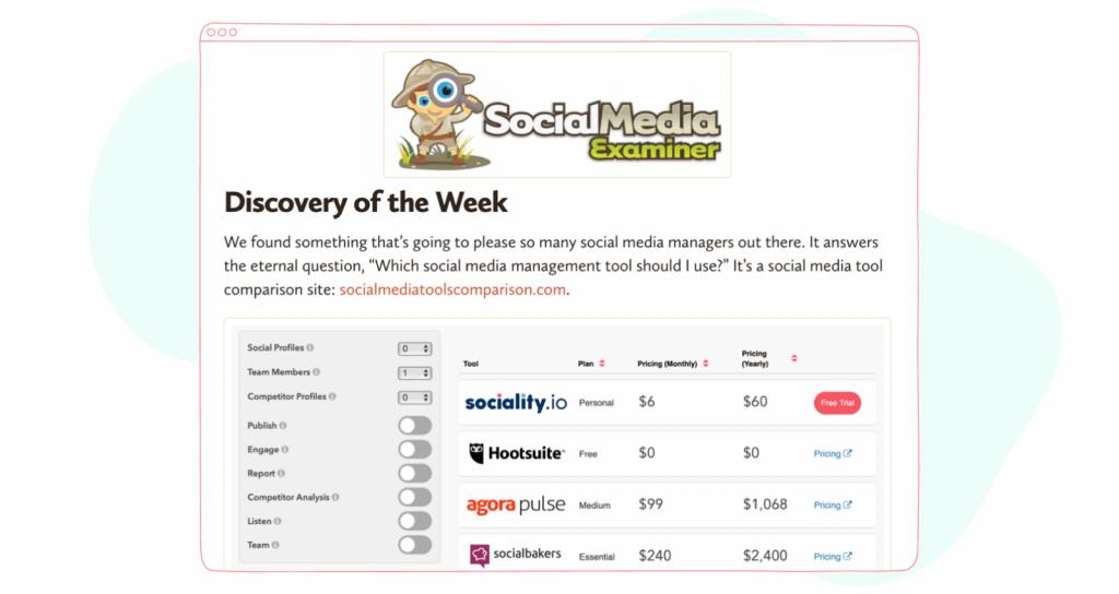 social media management tools comparison