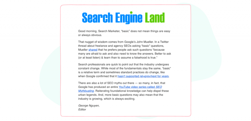 Marketing and Social Media Newsletters  - Search Engine Land