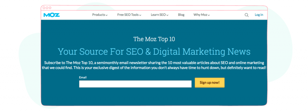 Marketing and Social Media Newsletters - The moz top ten