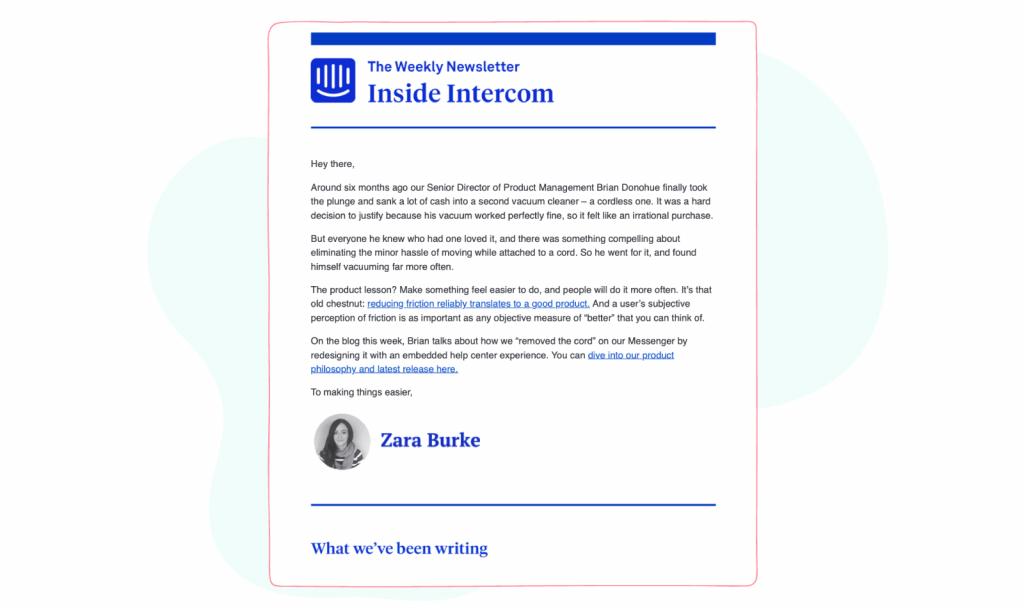 Marketing and Social Media Newsletters - Intercom