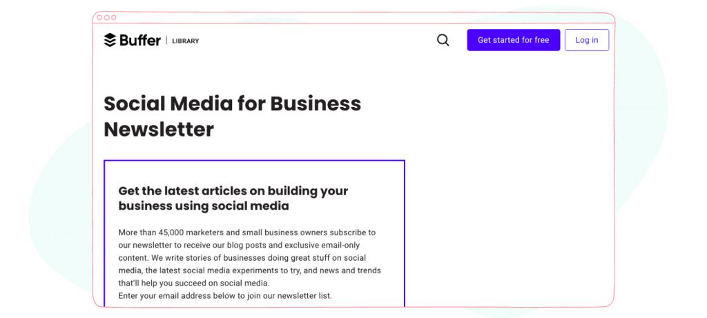 Social Media Newsletters - Buffer